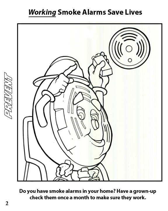 Learning Fire Safety Coloring Book Pack Of 50